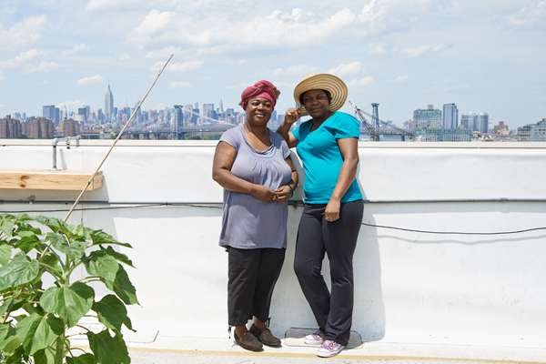 Two Urban Farm Recovery Project fellows from the Democractic Republic of Congo. Photo by Anne Saint Pierre