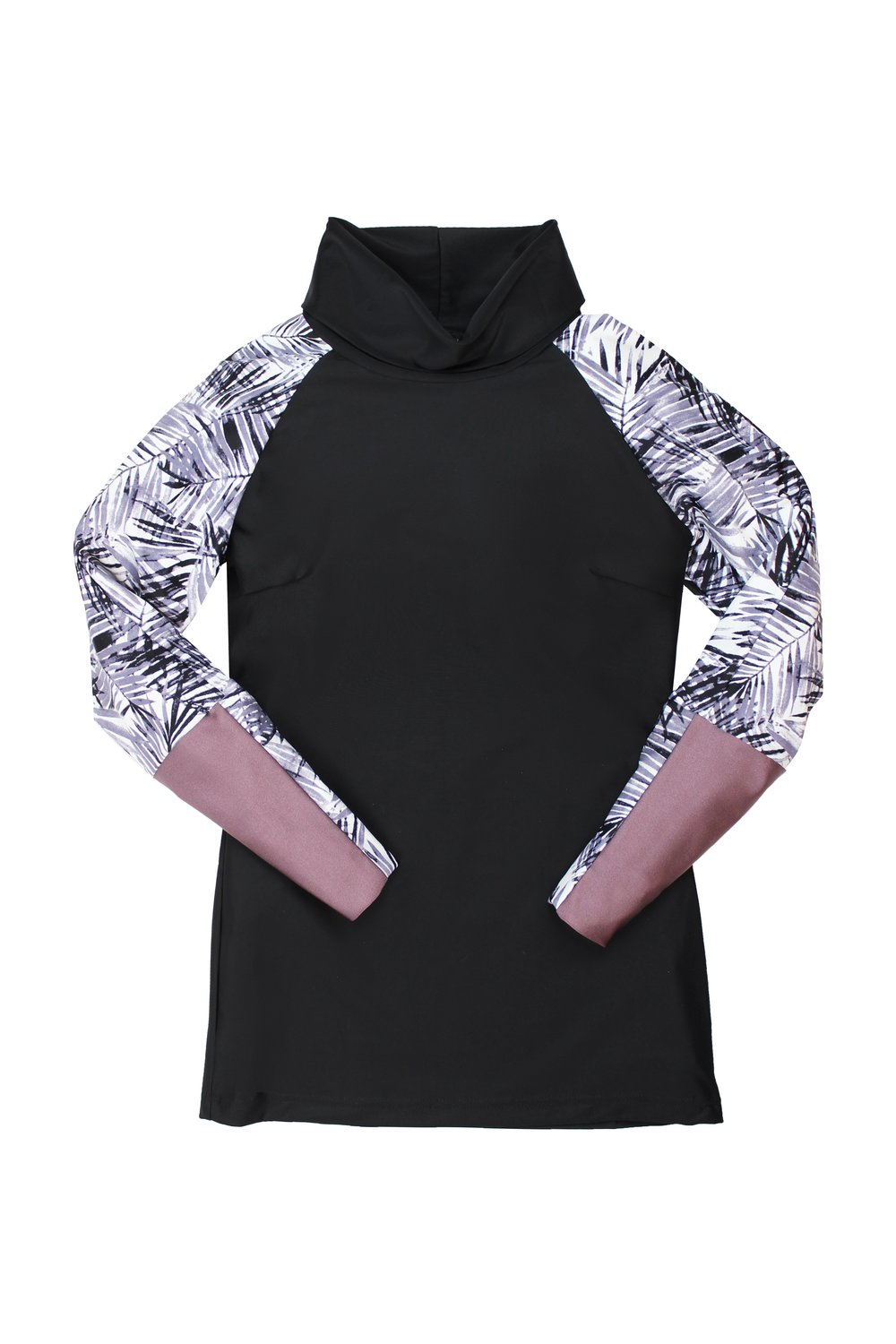 iaera surf  | The Mazu Rash Guard in Black Palm |  $98.00