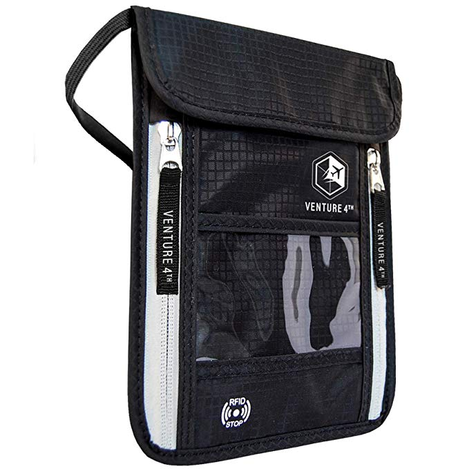 Venture 4th  | Travel Neck Pouch Neck Wallet with RFID Blocking |  $17.65