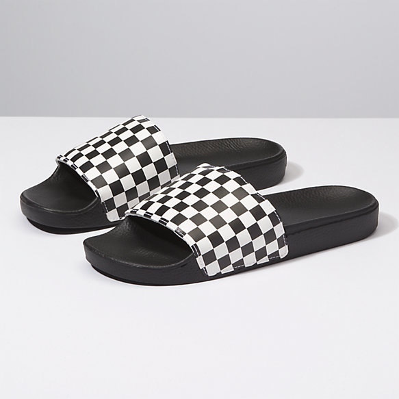 Vans  | Slide-On - Checkerboard White | $35.00