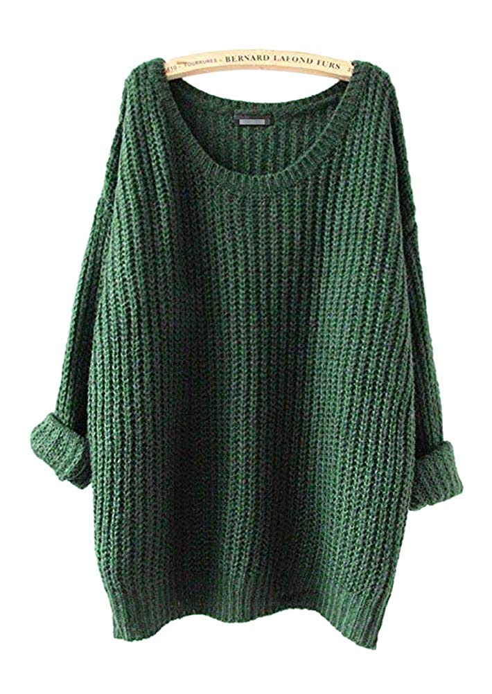 ARJOSA  — Oversized Knitted Crewneck Casual Pullover Sweater —  $22.98