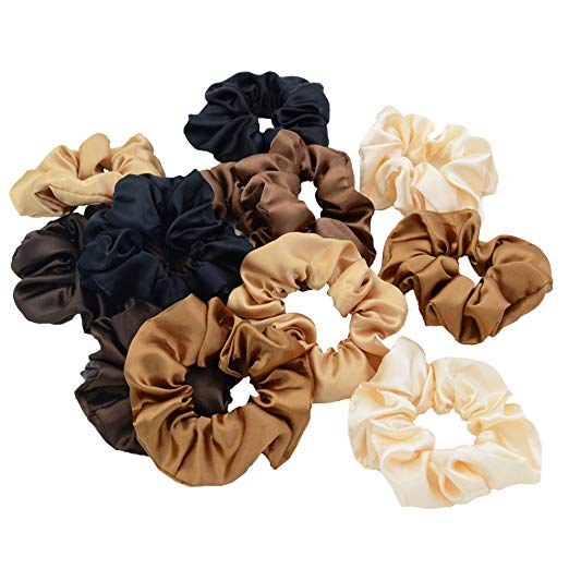 Chloven  — 12 Pack Satin Hair Scrunchies —  $9.98