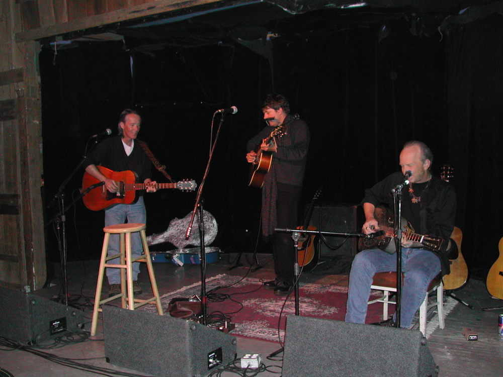 with Peter Case and Dave Alvin, photo by Ellen Karas