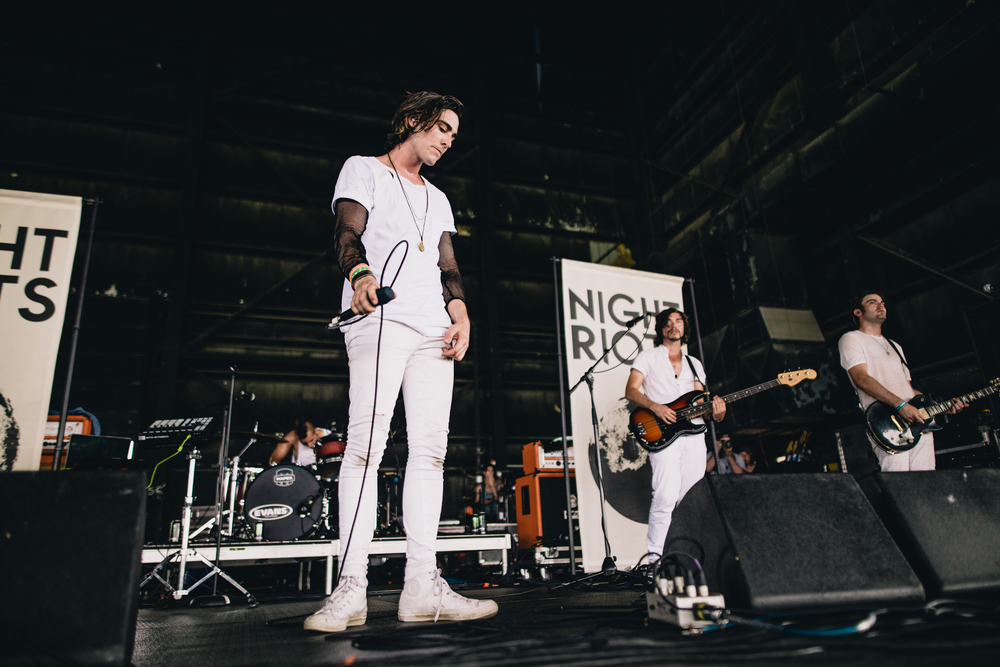 Night Riots. I only shot one song of their set before the heat drove me away.