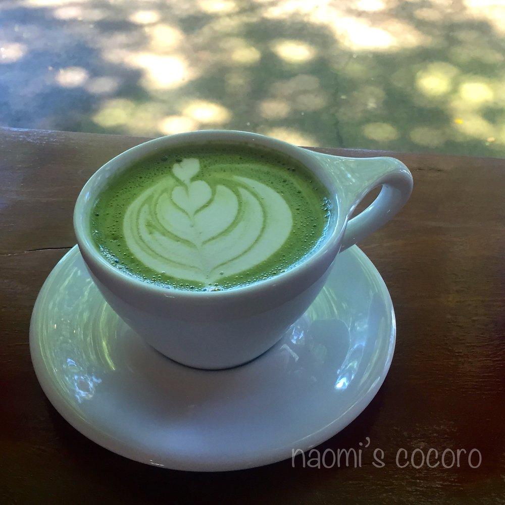 Matcha latte / Aloha Roastary にて