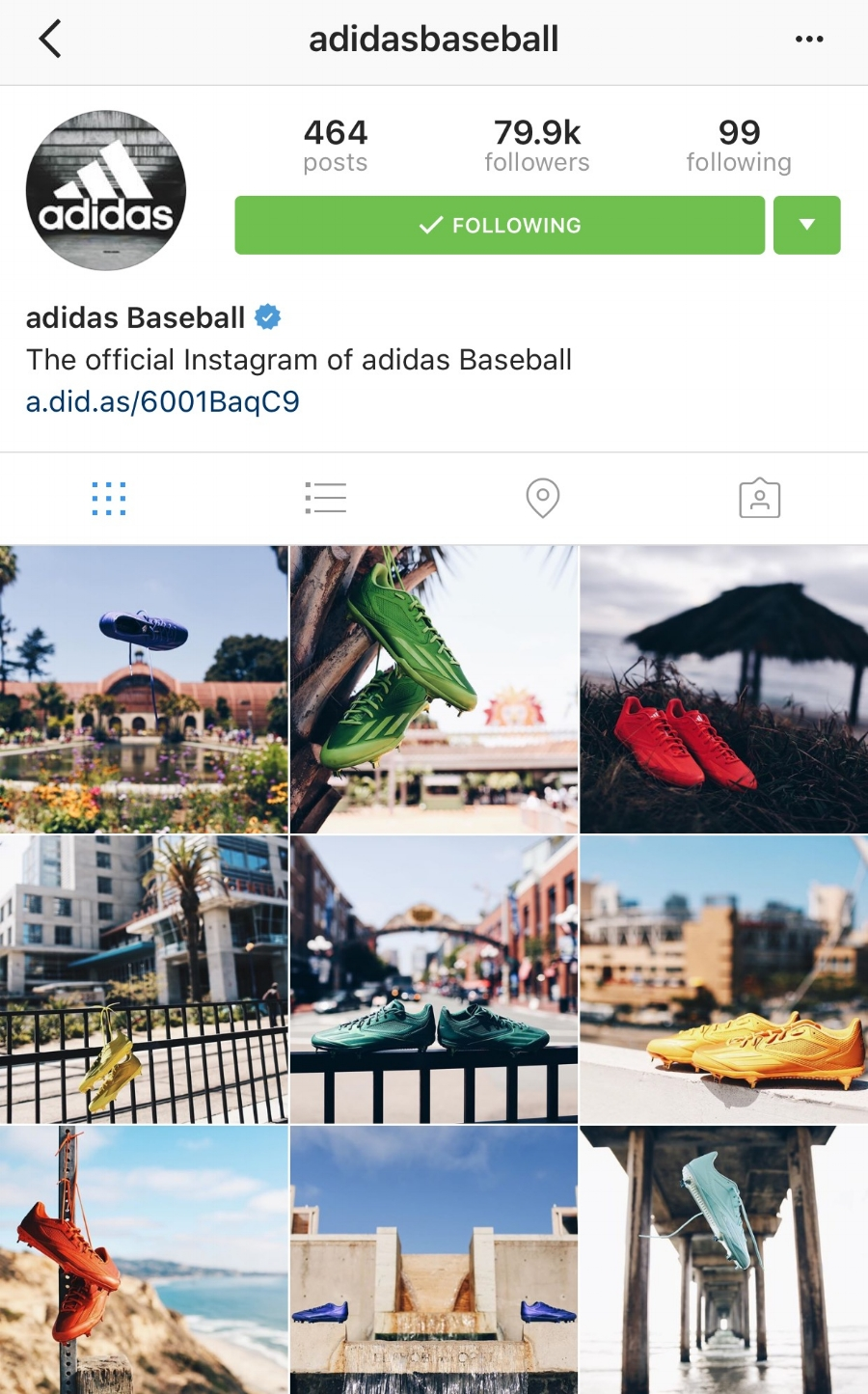 "adidas Baseball Instagram Page: MLB All Star Game ""Dipped Collection"" - July 2016"