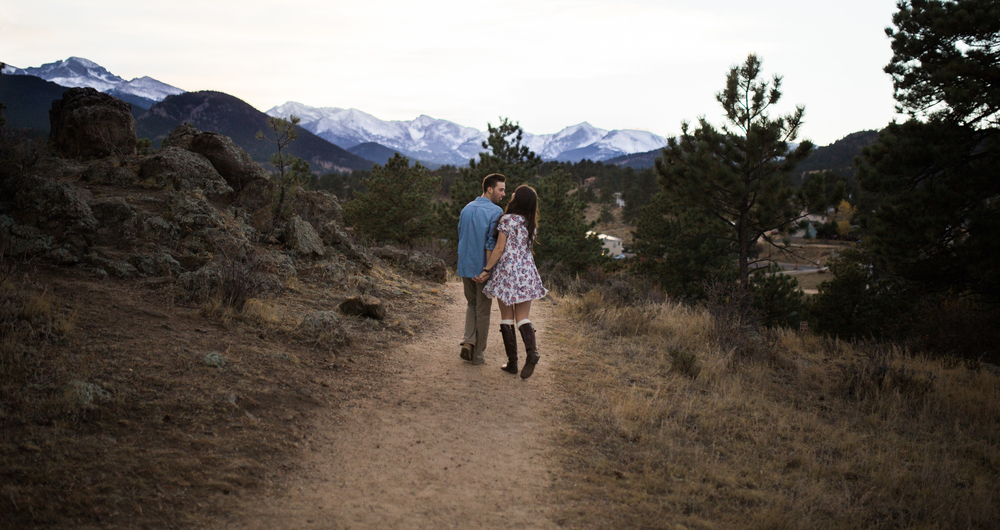 artistic engagement photography Rocky Mountains
