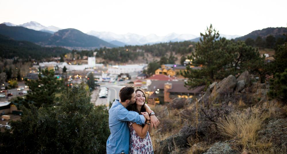 engagement photography town of Estes Park, Colorado