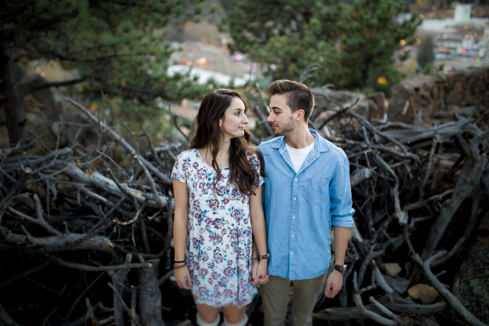 cute couples photography in the mountains of Colorado