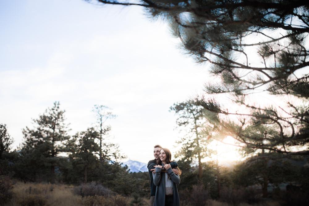 artistic engagement photography Estes Park, Colorado