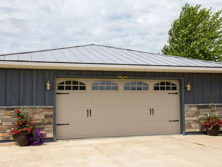 Steel Roofing on Garage