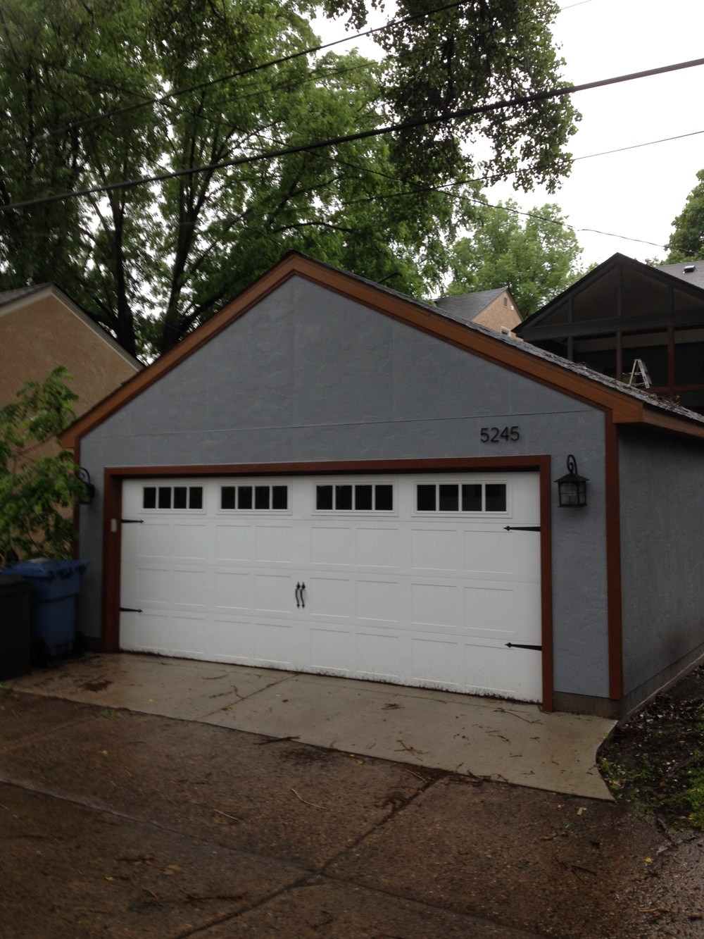 SmartSide Stucco Panel on Garage