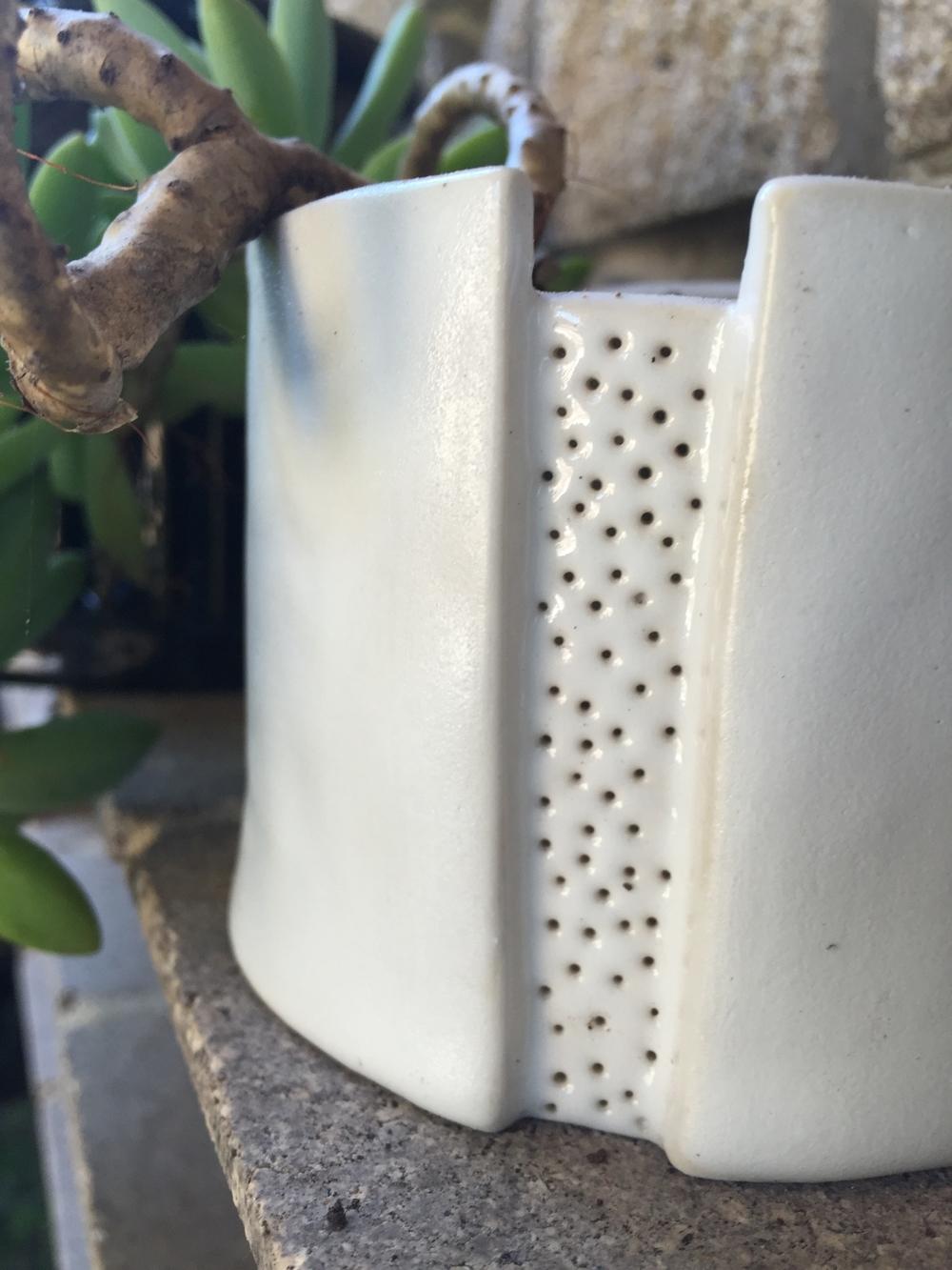 Name:  Succulant pots  Made: Kara Wood Ceramics Class