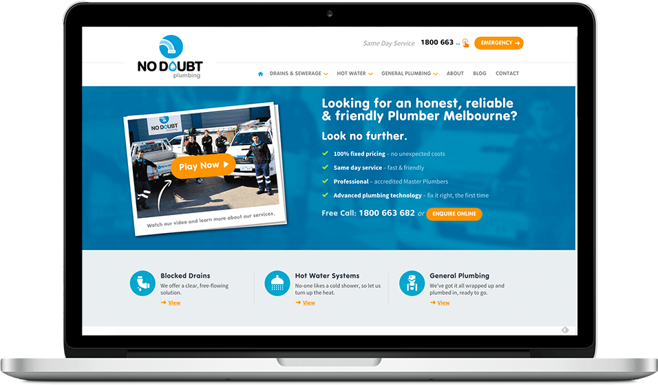 No Doubt Plumbing -  Copywriting, Content Marketing, SEO, Social Media