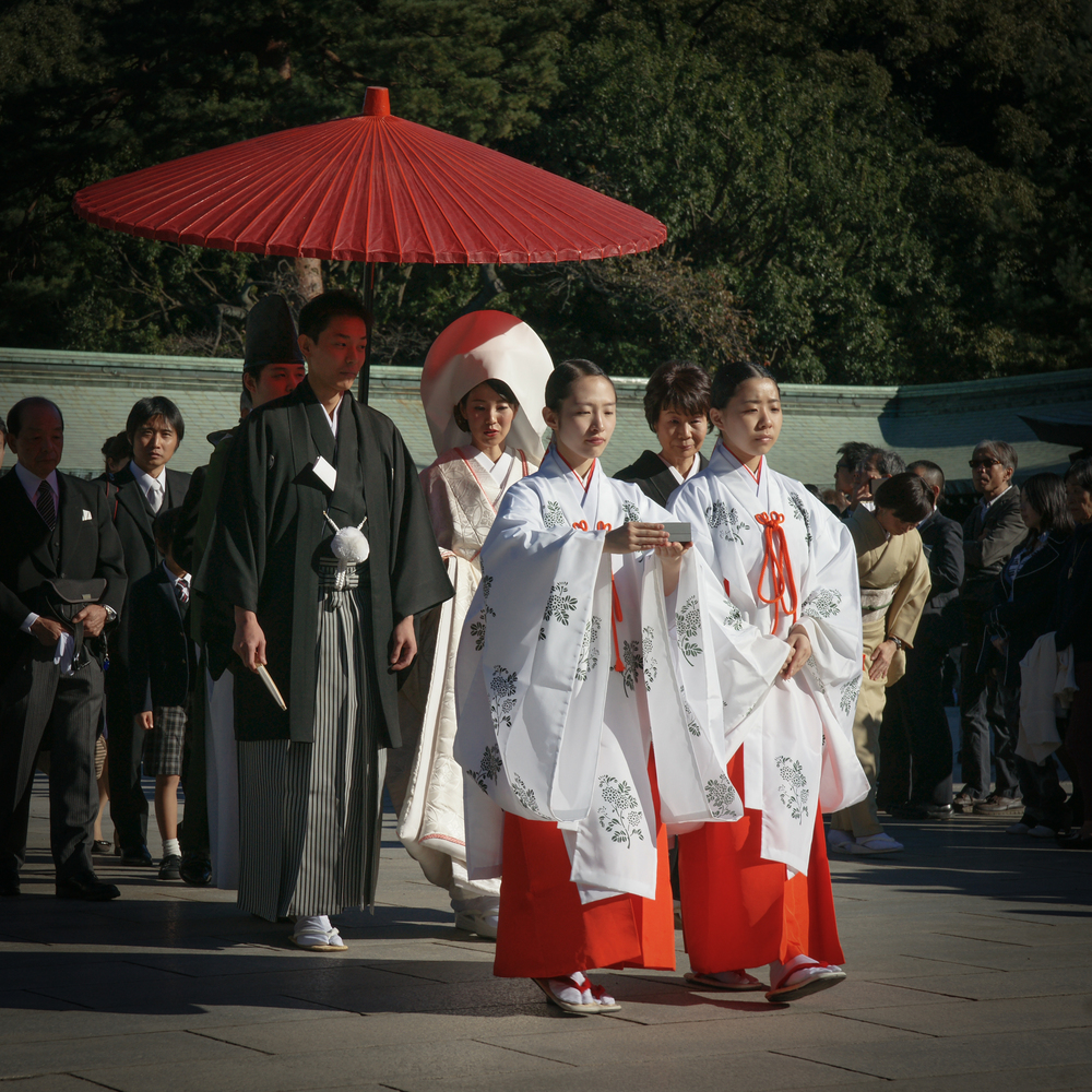 Bride and Groom in procession