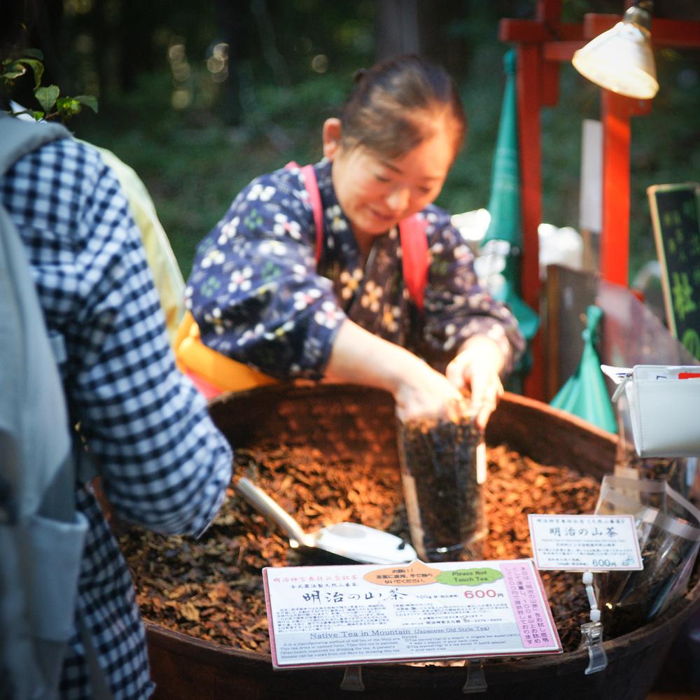 Woman selling tea