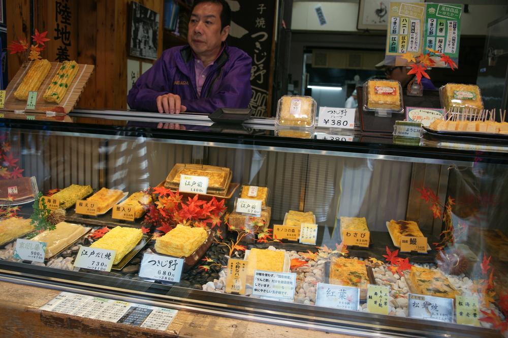 Storefront of a Tomagoyaki shop (Japanese Omelet)