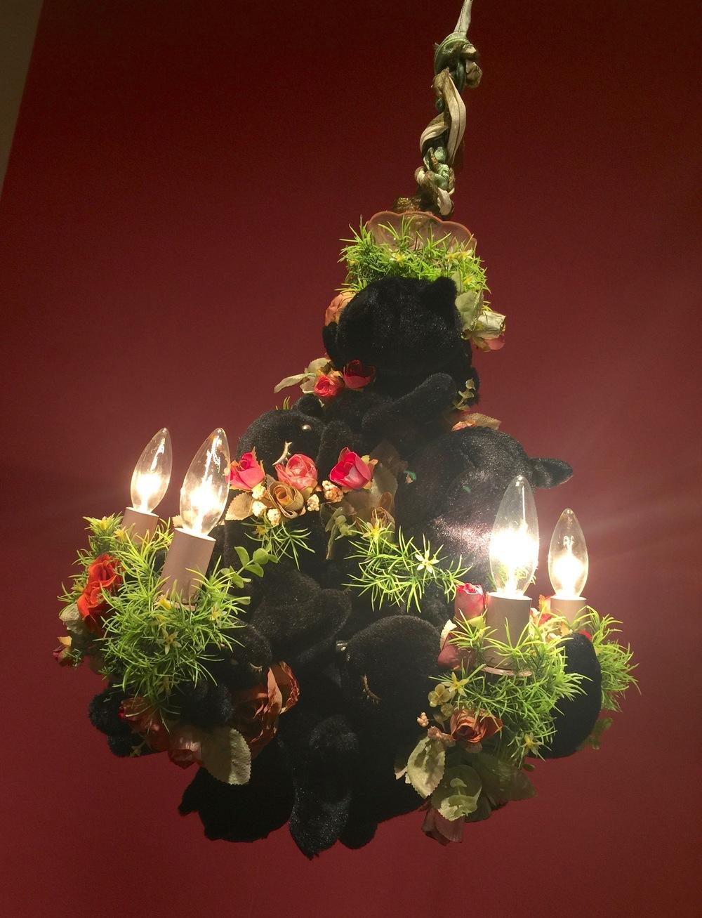 Black cat chandelier