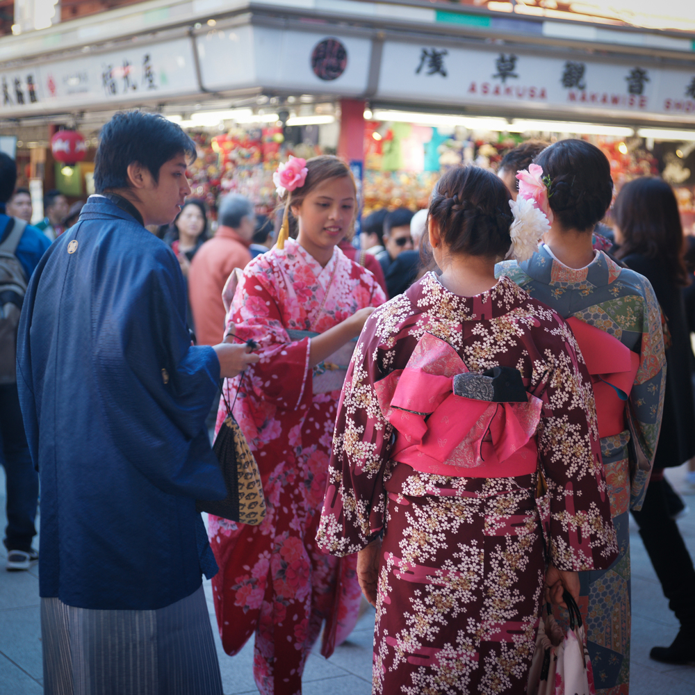 Tourists dress in Traditional clothes