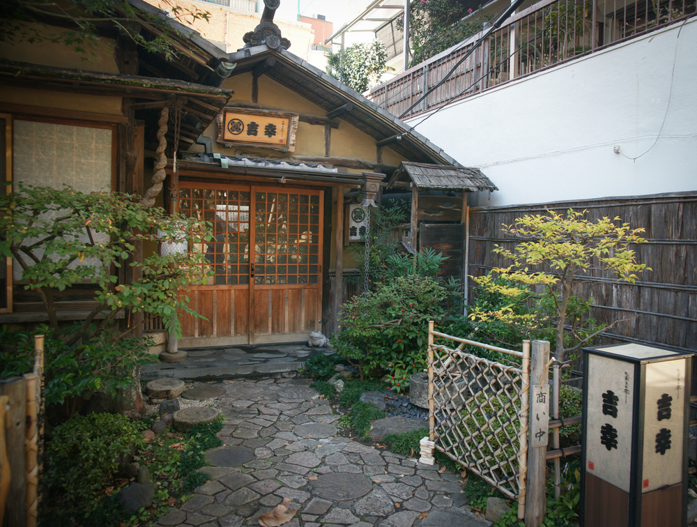 Building along a side street in Asakusa