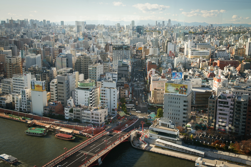 View of Asakusa from Asahi Building