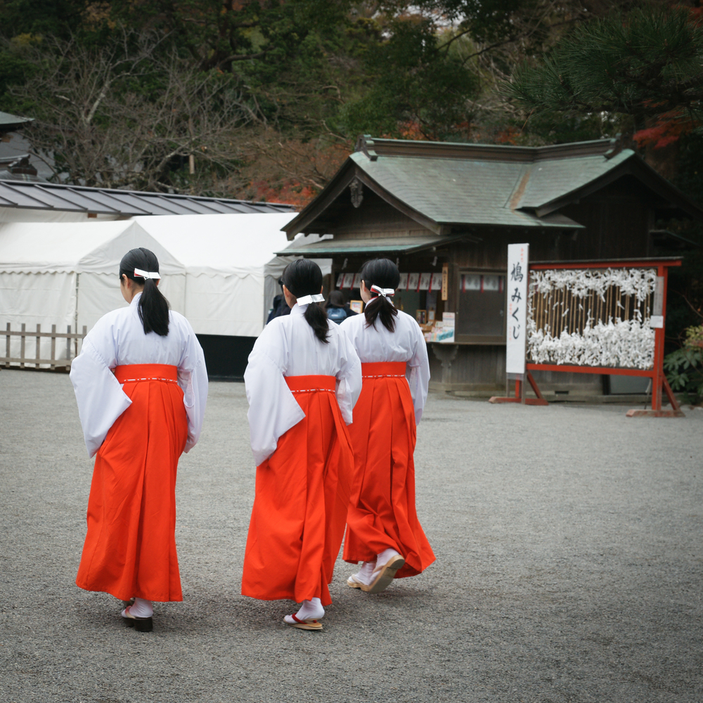 Miko, shrine maidens