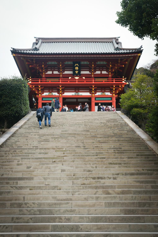 stairs to Tsurugaoka Hachimangu Shrine
