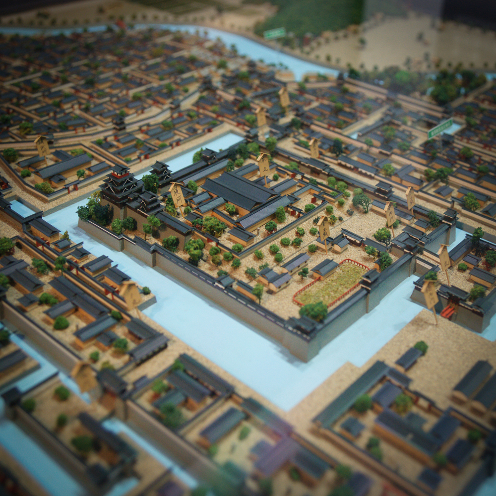 Model of the castle grounds and surrounding area