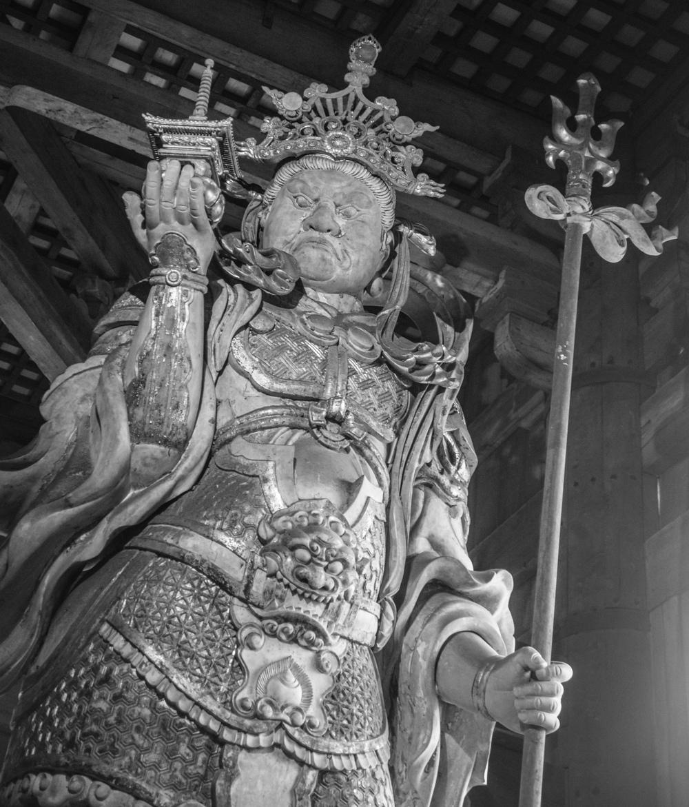 Bishamonten, guarding the Daibutsu