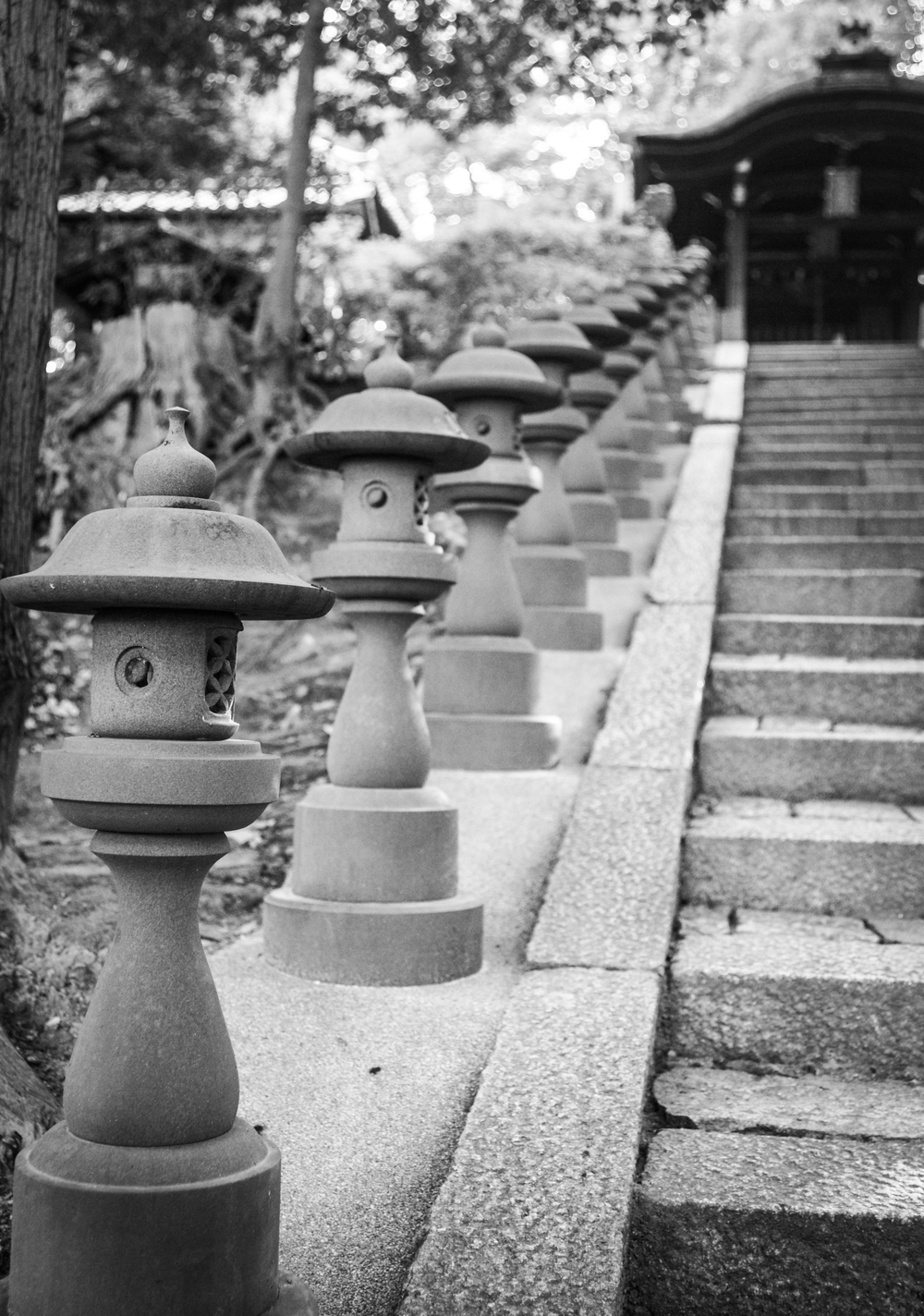 Steps to a small shrine at Tofuku-ji