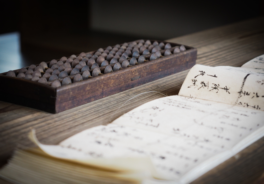 bookkeeping with an abacus