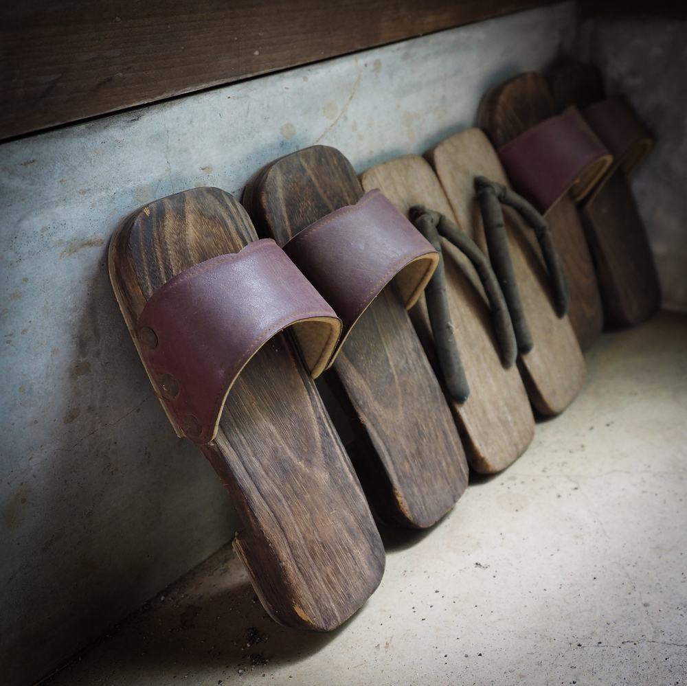 footwear at the entry
