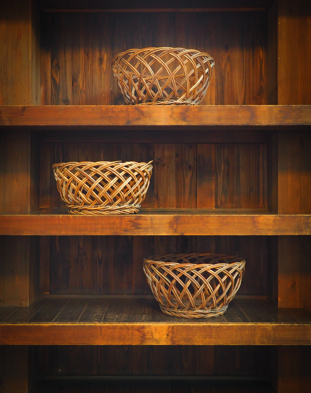 baskets in the public bath
