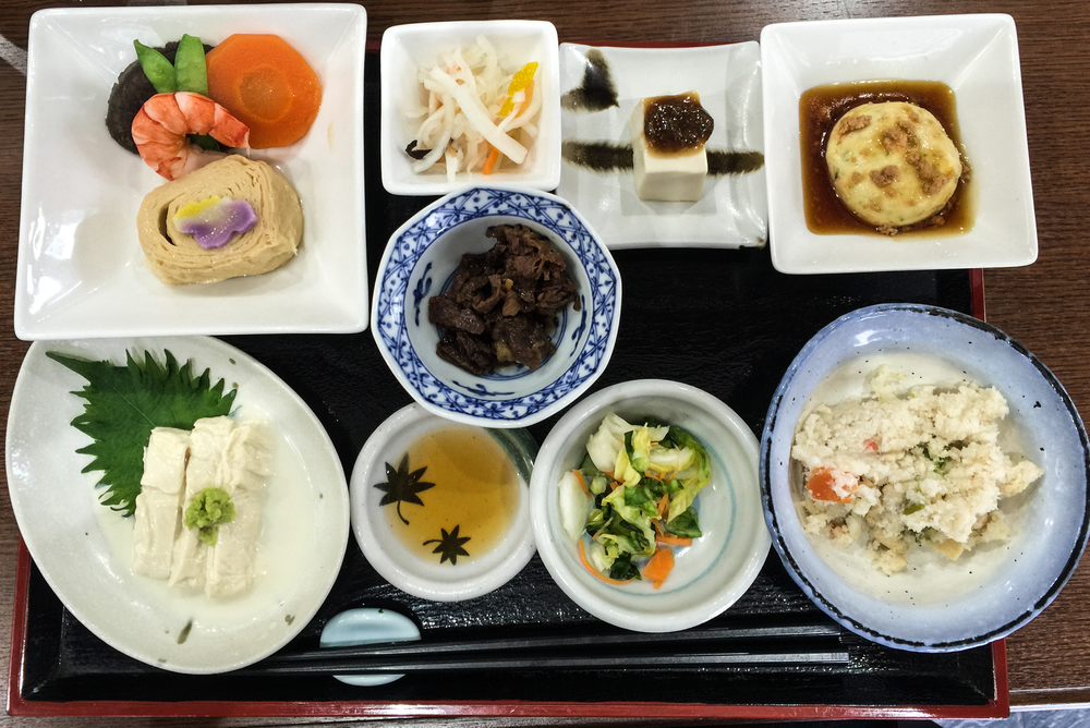 Yuba Set lunch, with Yuba featured in different ways