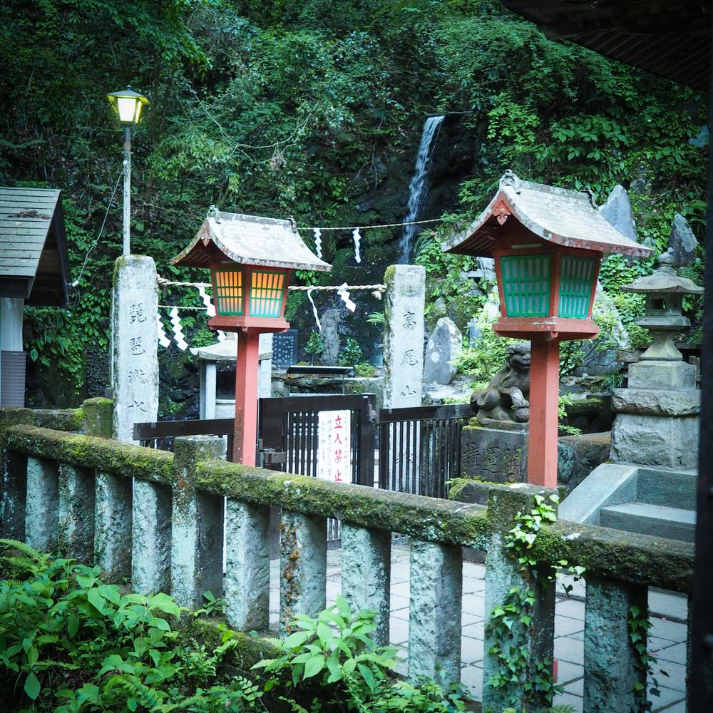 Shrine at Biwa Waterfall