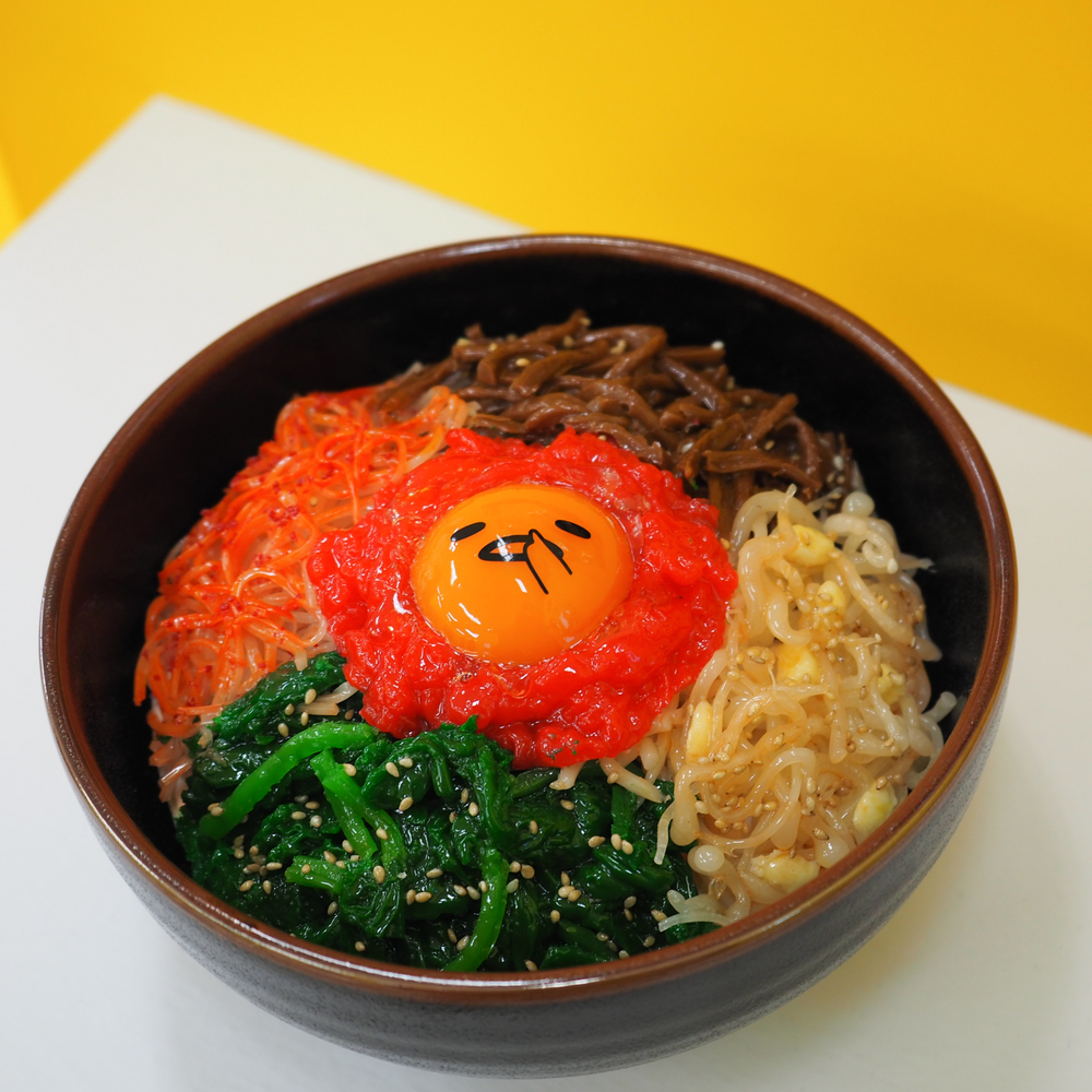 Gudetama in the Korean dish, bibimbap