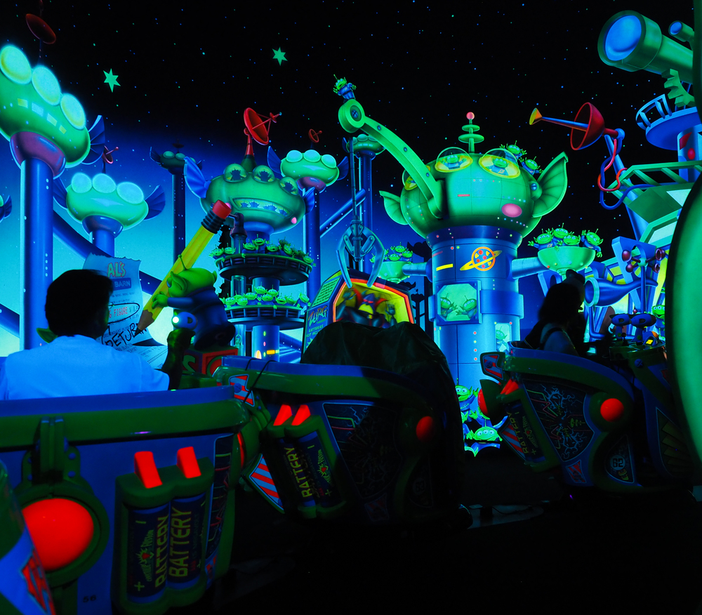 inside the Toy Story ride