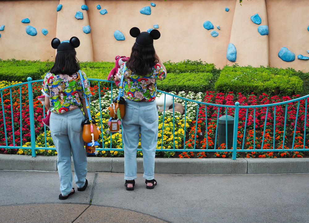 A Disney outfit so nice, they wore it twice!