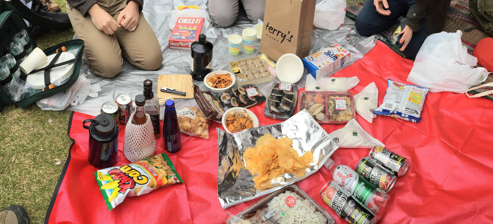 our Hanami spread...