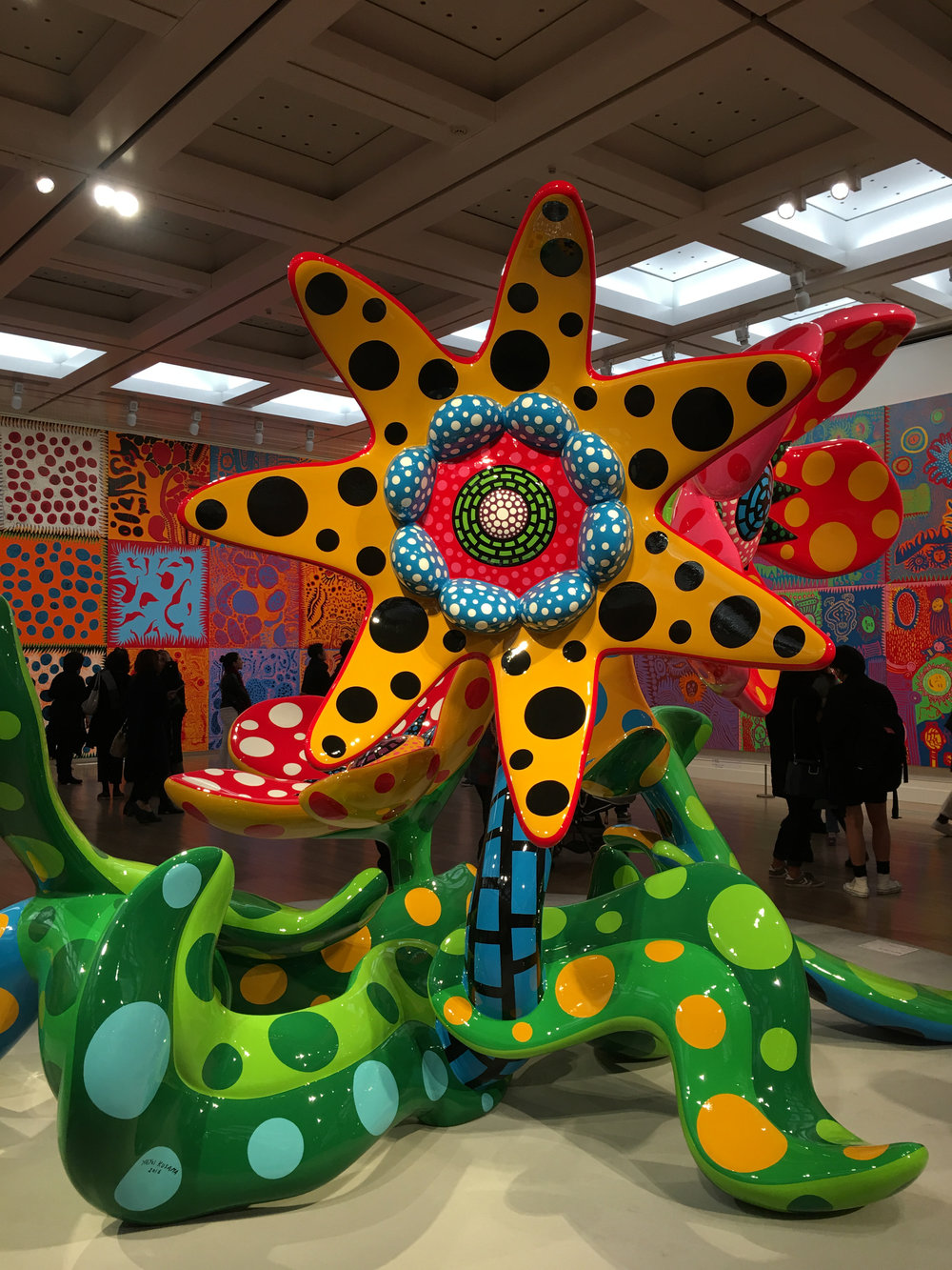 and another flower sculpture