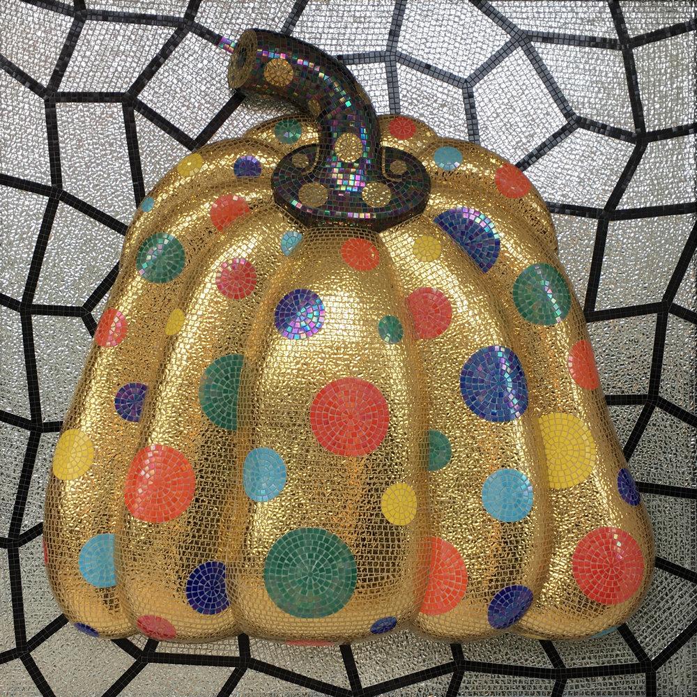 another mosaic pumpkin