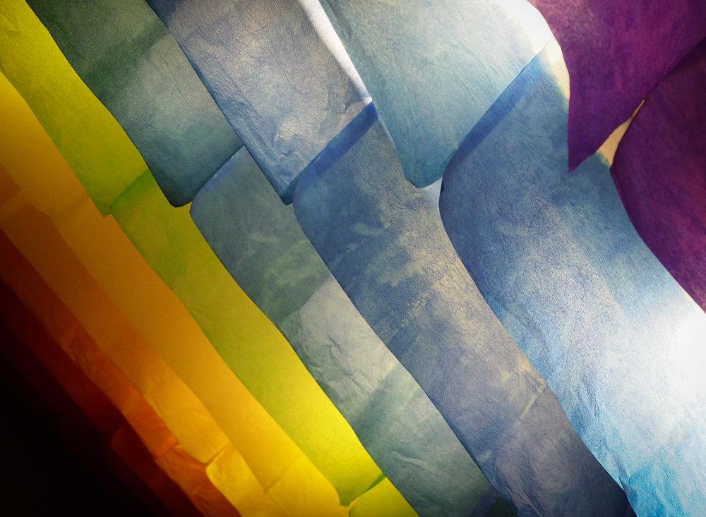 Rainbow of paper