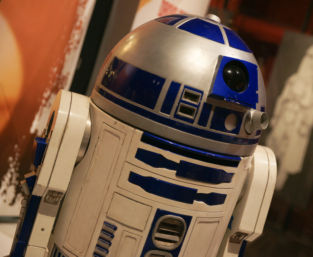 R2D2 at Star Wars Exhibit