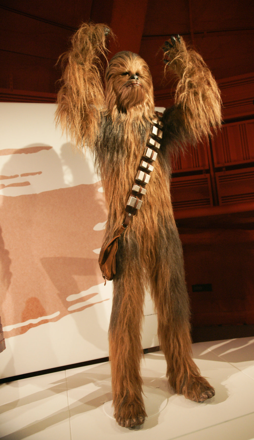 Chewbacca at Star Wars Exhibit