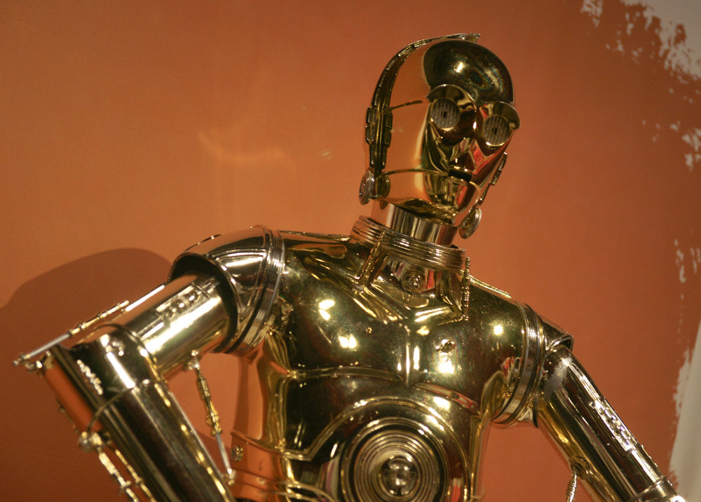 C-3P0 at Star Wars Exhibit