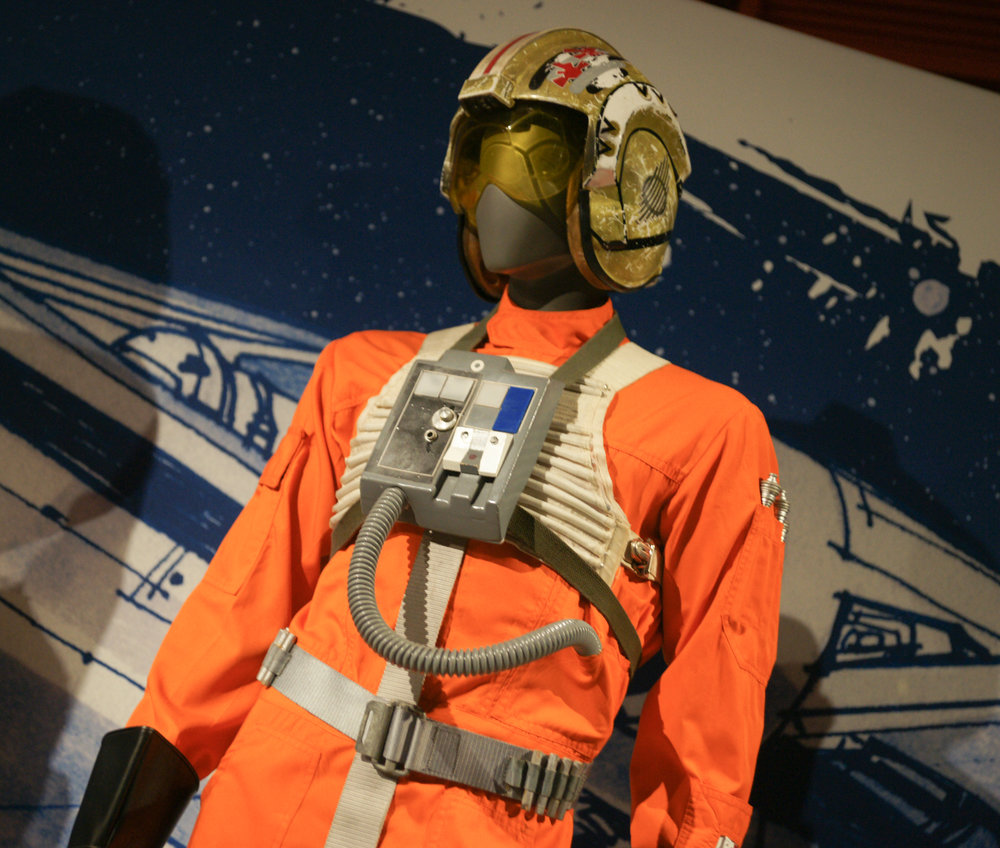Whoever this is, lol, at Star Wars Exhibit