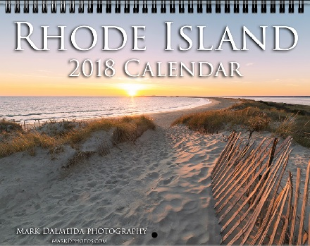 The official 2018 Rhode Island scenic calendar contains 12 unique images from around the Ocean State, along with marked holidays and special offers. Each calendar is 12 months and perfect for any home or office! Standard size and professional finish. Purchase yours today!