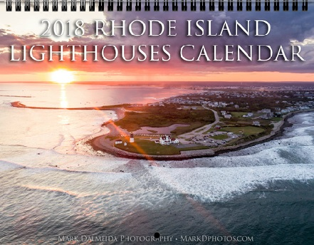 The official 2018 Rhode Island Lighthouses calendar contains 12 unique images from around the Ocean State, along with marked holidays and special offers. Each calendar is 12 months and perfect for any home or office! Standard size and professional finish. Purchase yours today!
