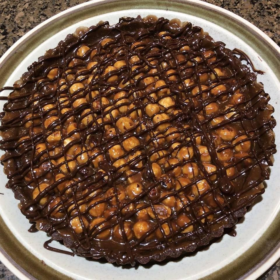 Hazelnut Caramel Chocolate Tart