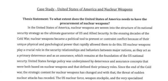 Topics For An Essay Paper Essay On Nuclear Weapons Homework Academic Service Larryclark Us Essay On Weapons  Nuclear Weapons Essay Wwwgxart Mental Health Essays also Fifth Business Essays Good Thesis For Nuclear Weapons Apd Experts Manpower Service What Is A Thesis Statement In An Essay